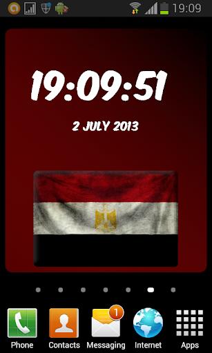 Egypt Digital Clock