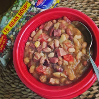 15 Bean Soup Crock Pot or Slow Cooker.