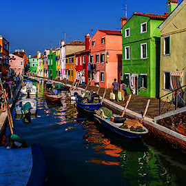by Adeline Tan - Buildings & Architecture Homes ( building, colourful, burano, homes, italy, , water, device, transportation, Urban, City, Lifestyle )