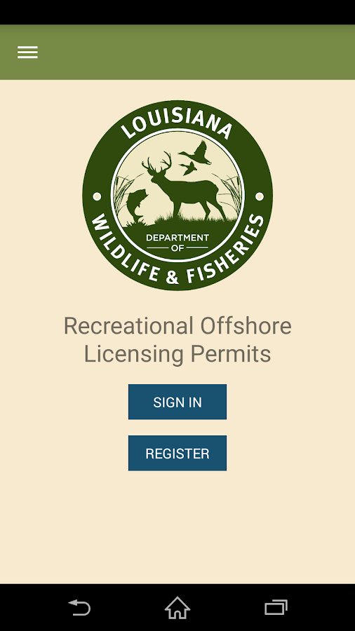 Rec. Offshore Landing Permits - screenshot