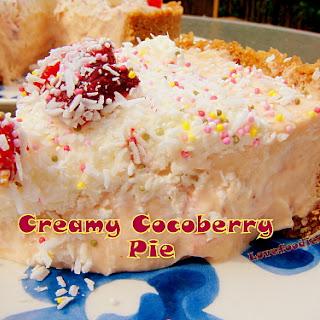 Creamy CocoBerry Pie