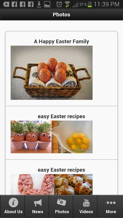 Easter Recipes - screenshot