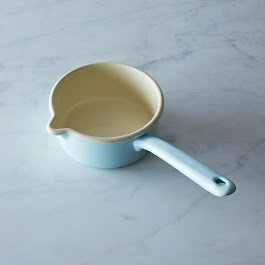 Blue Enamel Porridge Pot