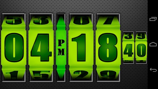 3D Rolling Clock GREEN- screenshot thumbnail
