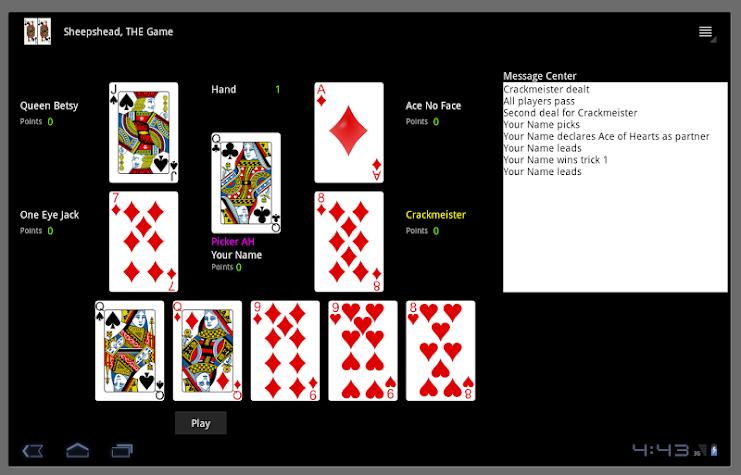 Sheepshead, THE Game Screenshot