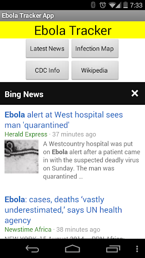 Ebola - News Maps Info