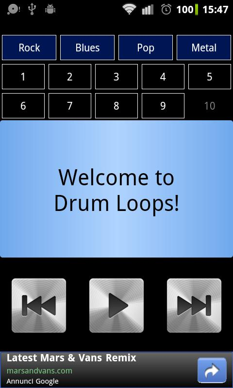 Drum Loops - screenshot