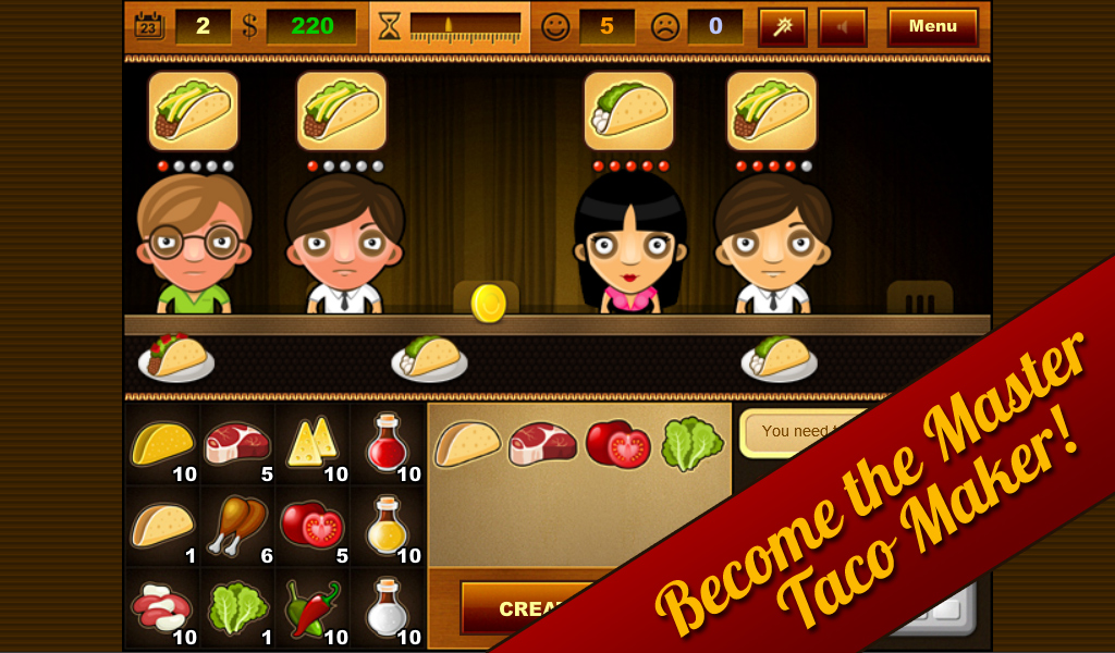 Taco Bar Actually Free Game - screenshot