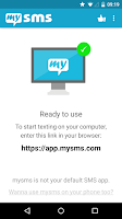 Screenshot of mysms SMS Text Messaging Sync