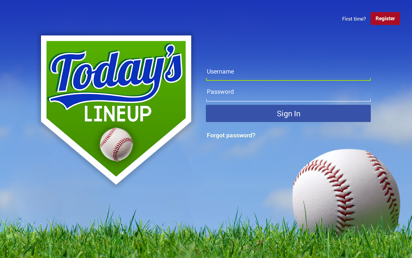 Today's Lineup - Baseball- screenshot