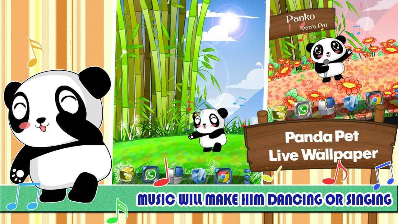 Panda Pet Live Wallpaper- screenshot