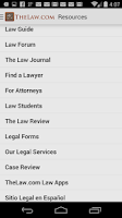 Screenshot of Law Dictionary / Guide