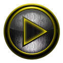 Poweramp skin STEEL I. Yellow icon