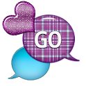 GO SMS - Dazzling Hearts icon
