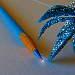by Kerry  Milligan - Artistic Objects Education Objects ( blue, pencil, object,  )