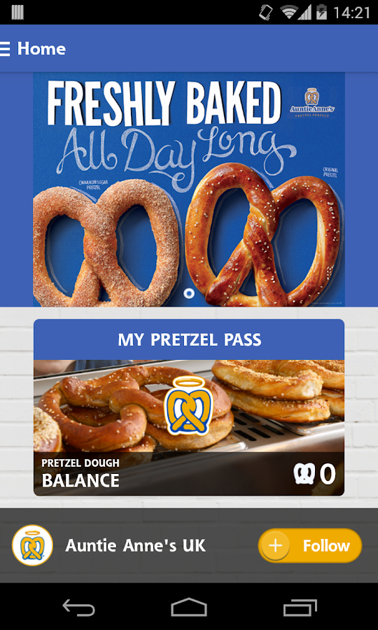 Auntie Anne's Pretzel Pass- screenshot