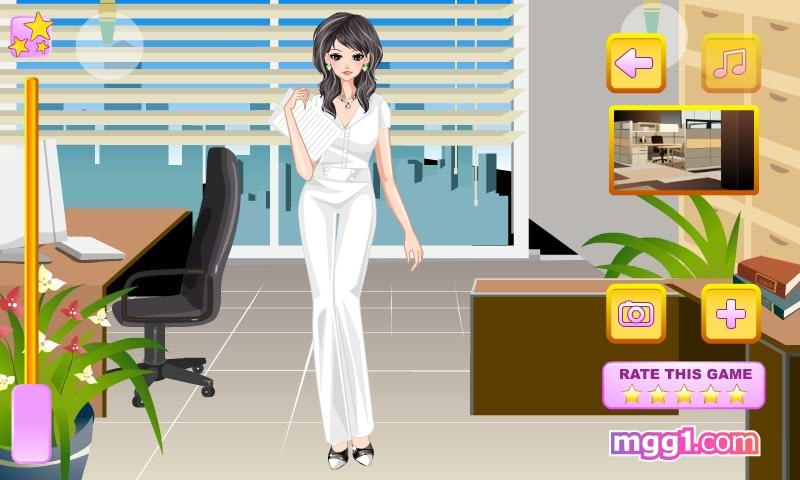 Secretary Girl Dress Up - screenshot