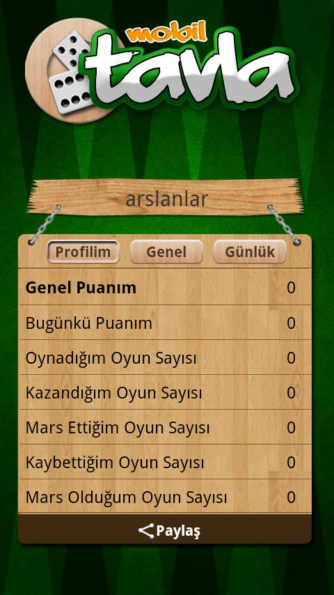 Tavla - screenshot
