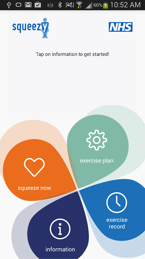 Squeezy: NHS Pelvic Floor App- screenshot