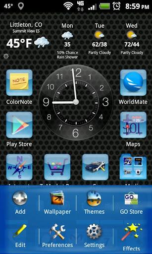 LC Aqua Theme Nova/Apex/Evie Launcher 1.05 screenshots 2