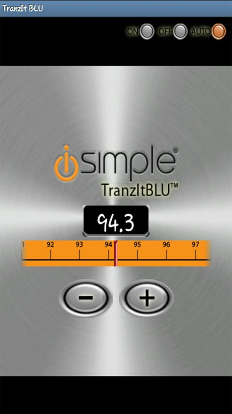 TranzIt BLU iSimple App - screenshot