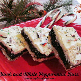 Black and White Peppermint Bars.