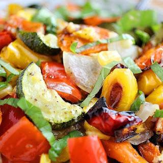 Easy Roasted Summer Vegetables.