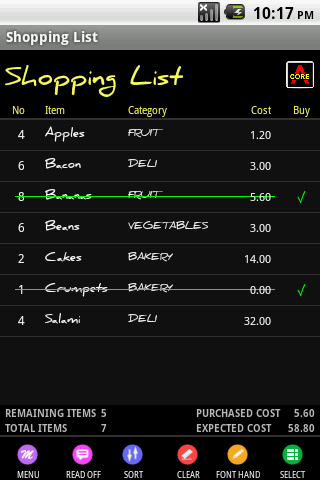 Shopping List Maker - screenshot