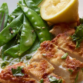 Lemon Chicken with Snow Peas.