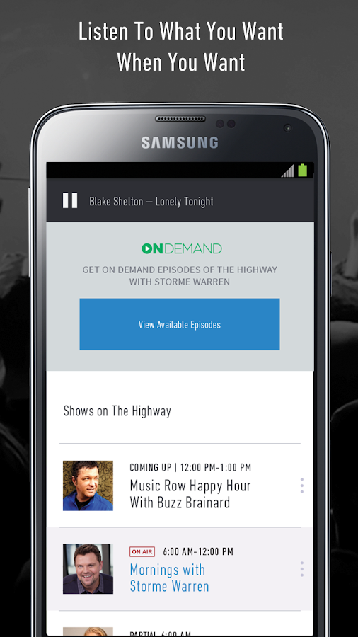SiriusXM- screenshot