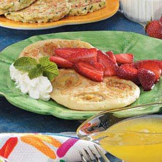 Banana Pancakes with Berries.
