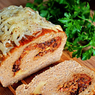 Bacon Jam and Fontina Loaded Turkey Meatloaf.