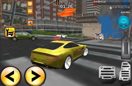 クレイジー救急車のドライバー3D