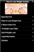 Screenshot of How To Lose Weight Quickly