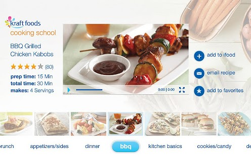 Kraft Foods Cooking School- screenshot thumbnail
