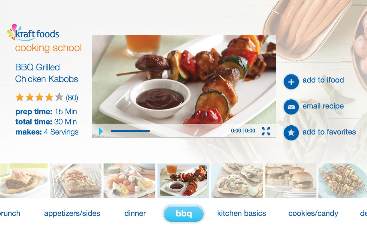 Kraft Foods Cooking School - screenshot