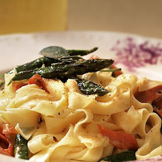 Tagliatelle with Prosciutto and Asparagus