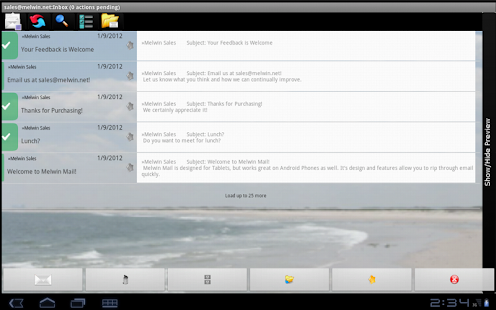 Melwin Mail - Email Client - screenshot thumbnail