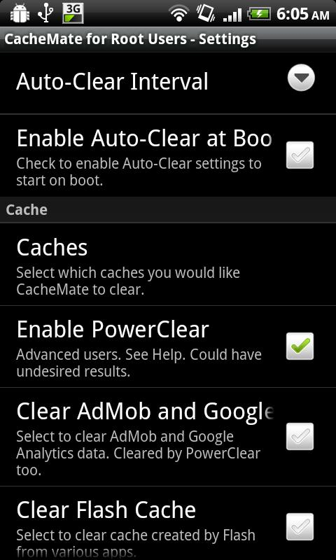 CacheMate for Root Users- screenshot
