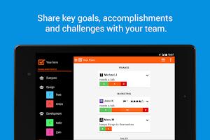 Screenshot of Weekdone - weekly team reports