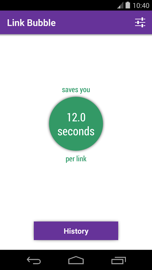Link Bubble Browser - screenshot