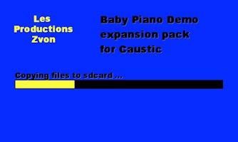 Screenshot of Baby Piano demo for Caustic