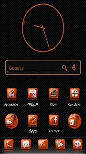 Slick Launcher Theme Orange
