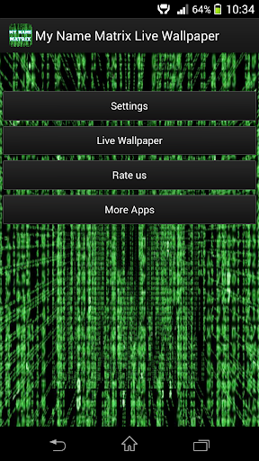 My Name Live Wallpaper: Matrix