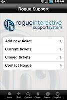 Screenshot of Rogue Support