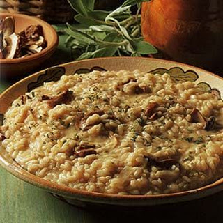 Porcini, Caramelized Onion and Sage Risotto
