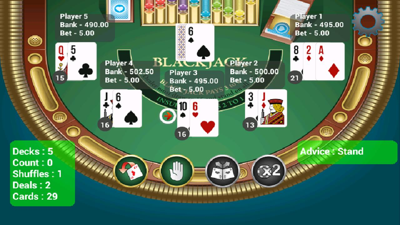 8 deck blackjack card counting simulator