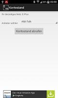Screenshot of Prepaid Handy Guthaben