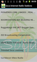 Screenshot of Soca Music Radio Stations