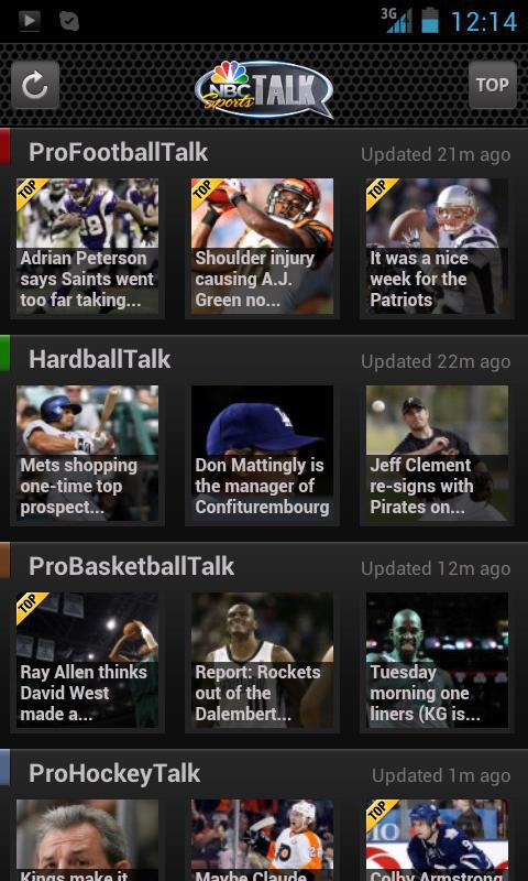 NBC Sports Talk- screenshot
